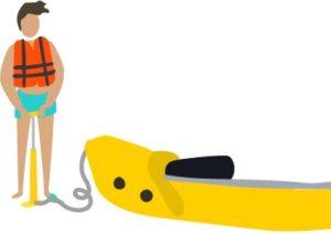 gonfler kayak