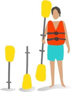 pagaie kayak